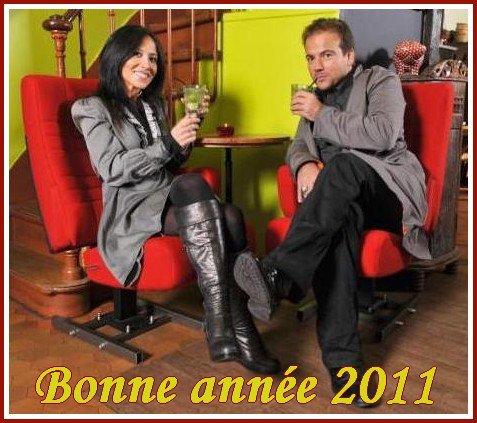 Bonne année 2011 avec Stéphane et Fabienne !!