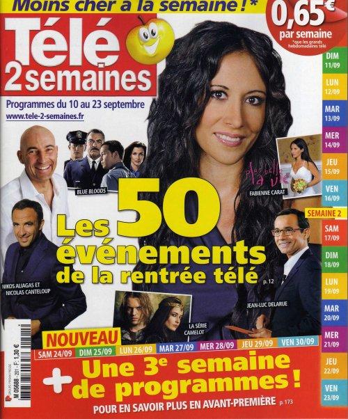 Télé 2 semaines du 10 au 23 septembre 2011