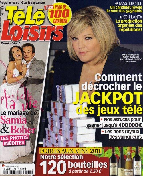Télé Loisirs du 10 au 16 septembre 2011