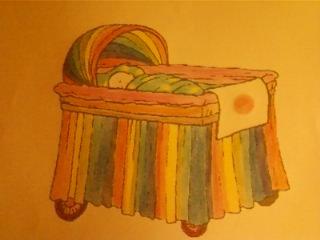 dessin que j'ai colorier avec les couleur de l'arc en ciel et le drapeau du Japon
