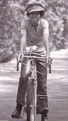 michael jackson a vélo