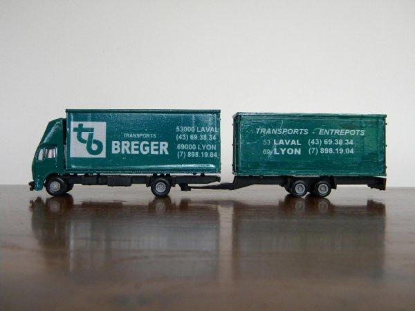 camion remorque BREGER au 1/87e