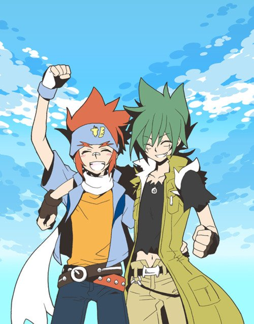 Images de Kyoya et Gingka !