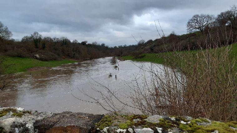 Rivière  Argentonnais en crue,photos faite avec mon nouveau téléphone Samsung