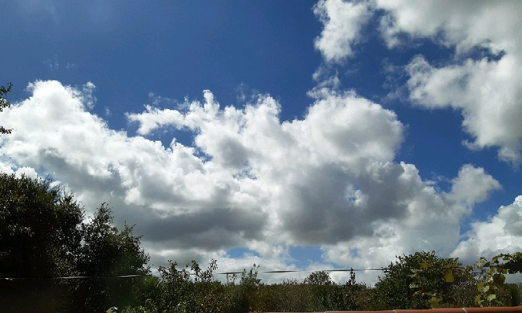Magnifique le ciel cet après-midi