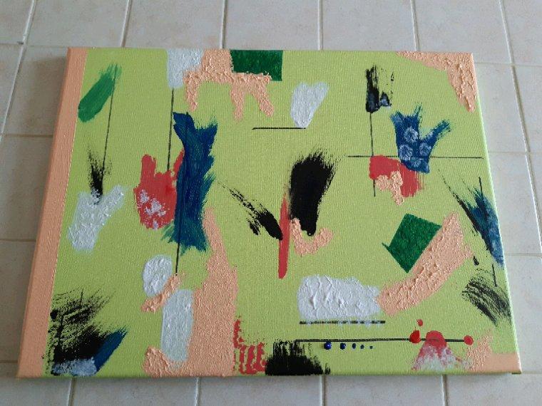 Mon tableau  fini ,très  coloré
