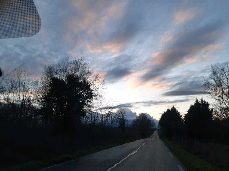 En rentrant ce soir , trop  beau le ciel