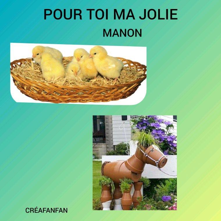 Cadeau pour toi  Manon bisous