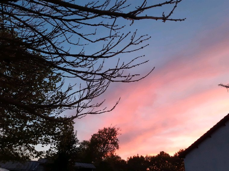 Le ciel ce soir magnifique