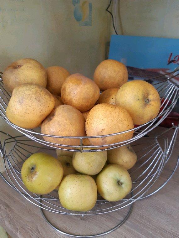 Pour  ce soir pommes ,confiture de  coings et cassonade