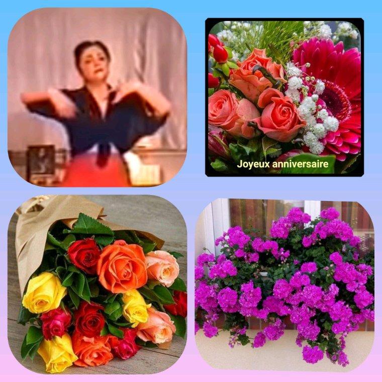 Bon anniversaire à toi ma gentille amie Géraldine