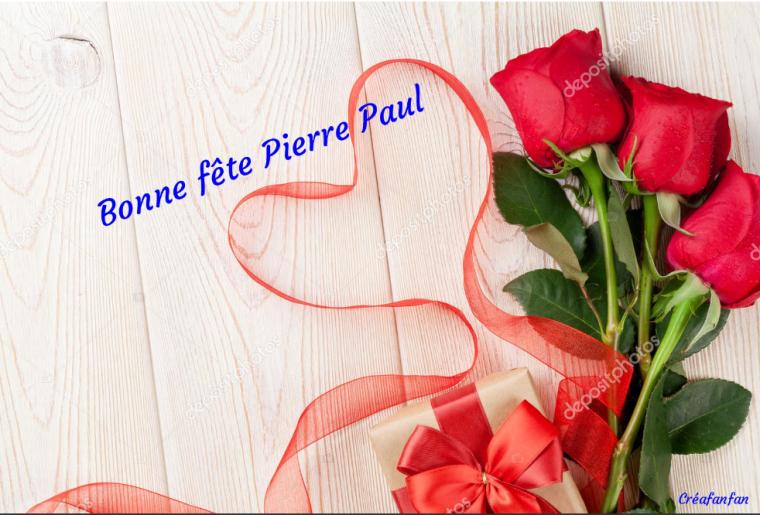 Bonne fête mon ami Pierre paul , bisous