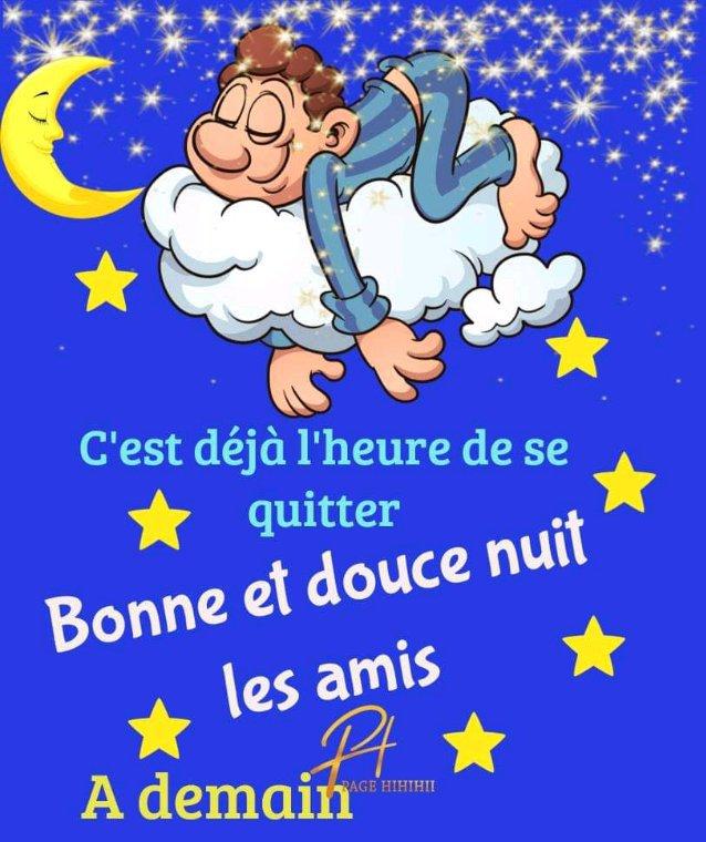 Bonne nuit , bisous pour vous