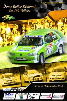 Rallye des 100 Vallées Les 11 et 12 Septembre 2010