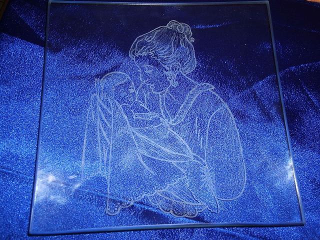mes créations de gravure sur verre
