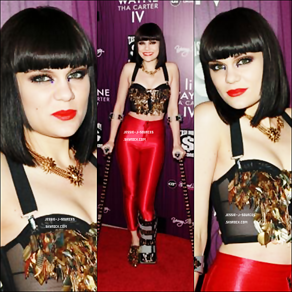"""29.08.11 - Jessie, a participé à la soirée organisée par Lil Wayne à l'occasion de la sortie de son nouvel album """" Tha Carter IV """"  à Los Angeles. Côté tenue, Flop Or Top ?"""