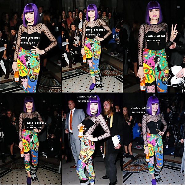 19.09.11 - Jessie J a assisté au défilé Giles (Deacon) à l'occasion de la Fashion Week qui à lieu à Londres et découvrez un photoshoot promo Glacéau vitaminwater, pour les jeux Olympiques !