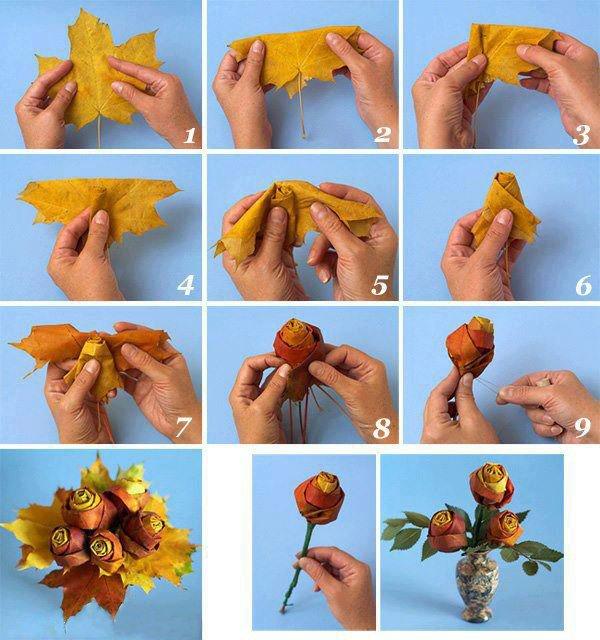 avec quelques feuilles on peu faire un joli bouquet  ...