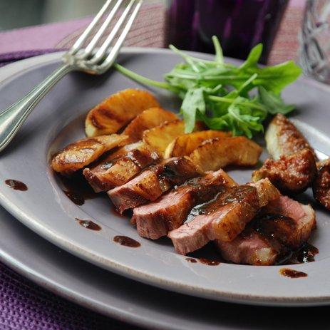 recette magret  de canard   et figue