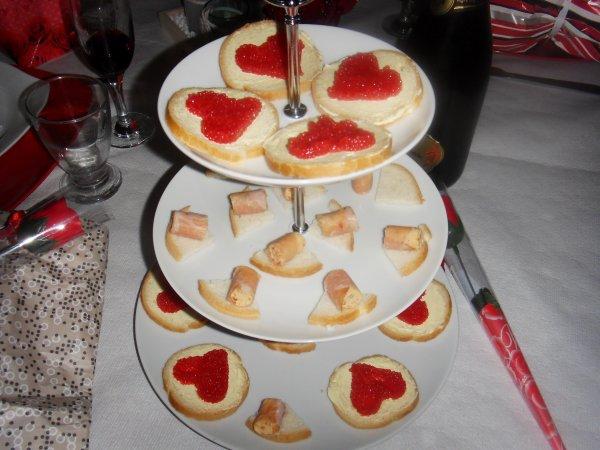 un bout  du tit repas de st valentin  d'hier