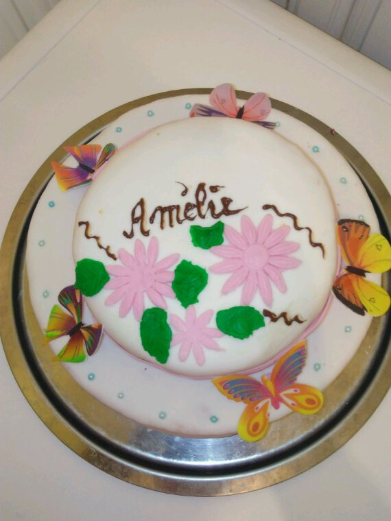 Gâteau d'anniversaire que j'ai confectionné pour ma grande