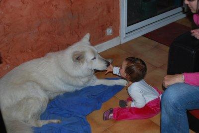 mon chien et ma fille
