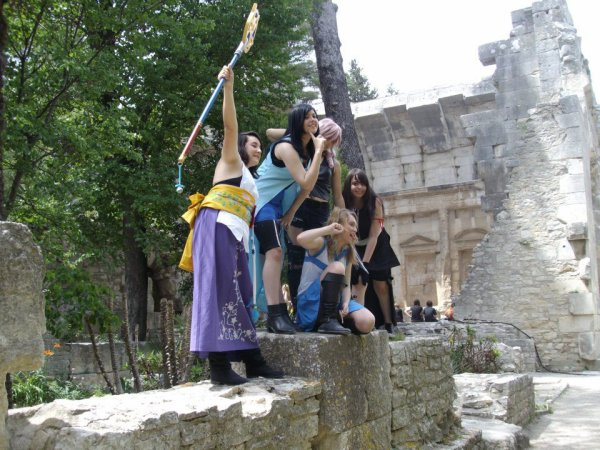 Photoshooting cosplay final fantasy + une fairy tail !!