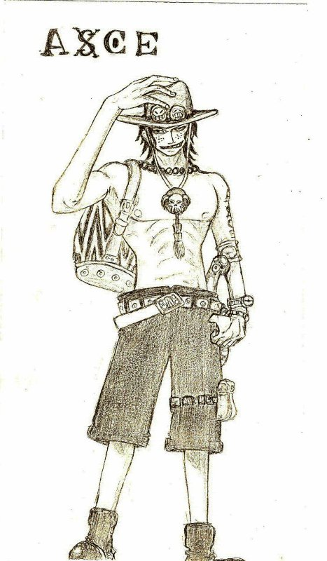 Le coin a dessin de portgasdace luffy - Comment dessiner luffy ...