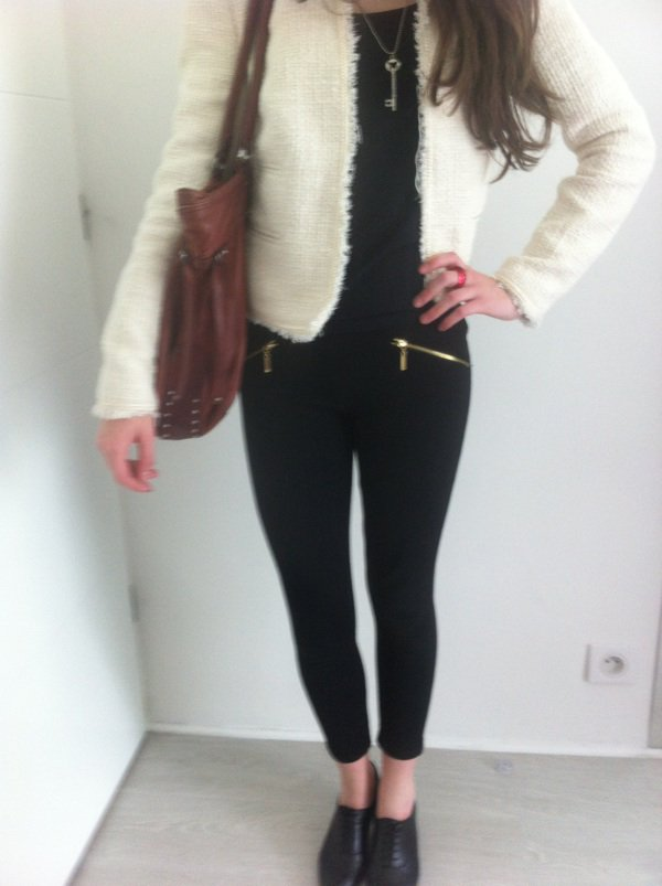 Veste en tweed blanche