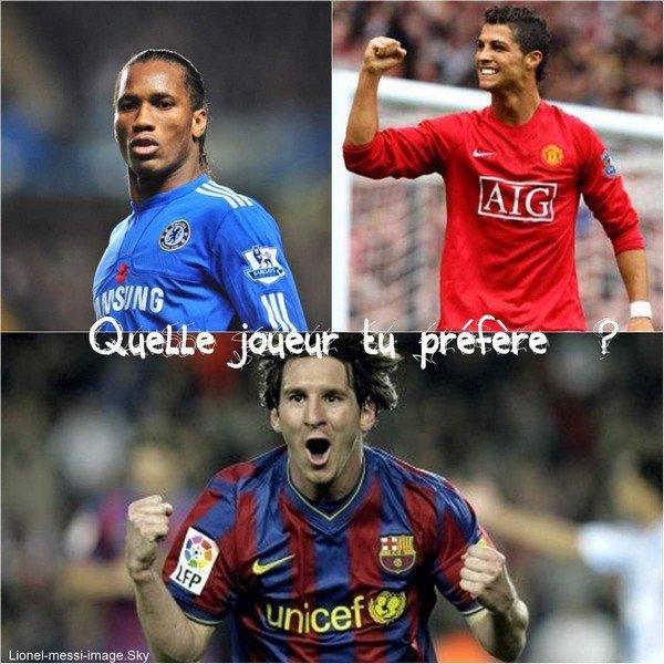 Quelle joueur tu préfère ?
