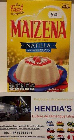 "Chez HENDIA'S, nuestra Natilla.""COLOMBIANA"""