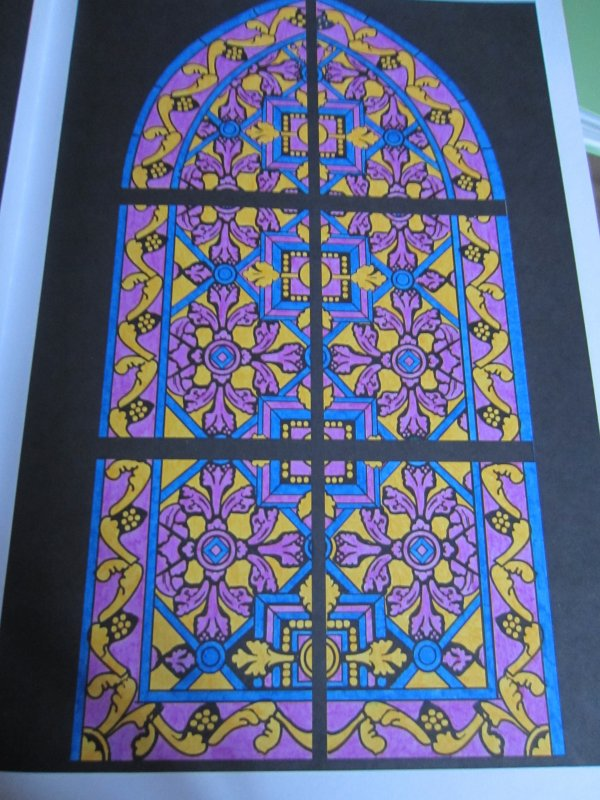 coloriage anti stress l'art du vitrail