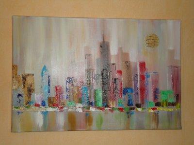 Une ville en couleurs...60x40