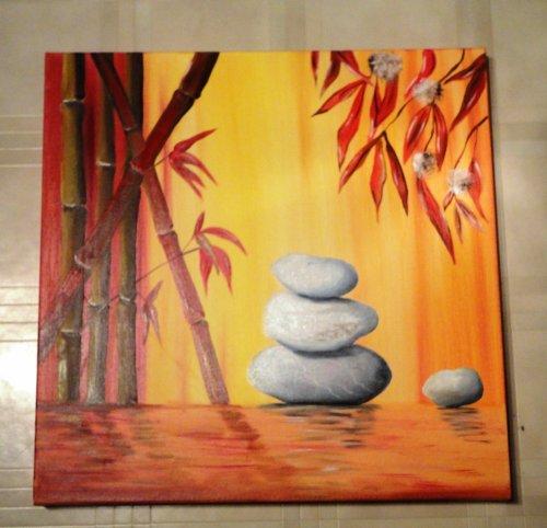 Zen orangé    60 x60