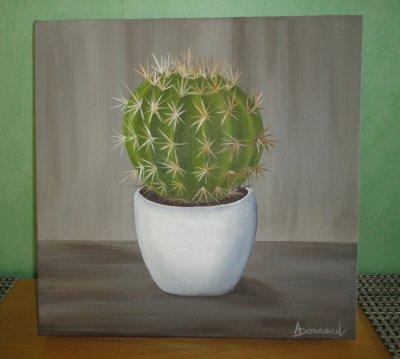 Le Cactus ou le Coussin de belle-mère  30x30