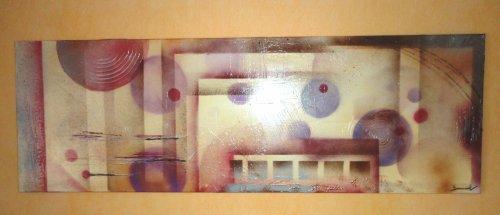 abstrait brun-mauve    30 x 90