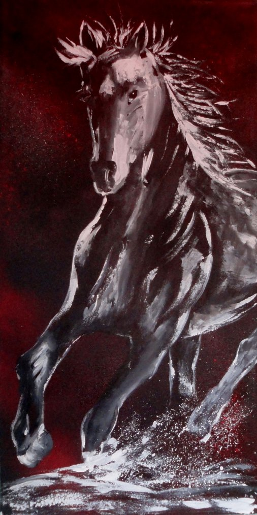 Cheval au Galop...   50 x 100