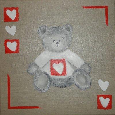 """Nounours """"Logo Coeur"""" de Mécenat Chirurgie Cardiaque"""