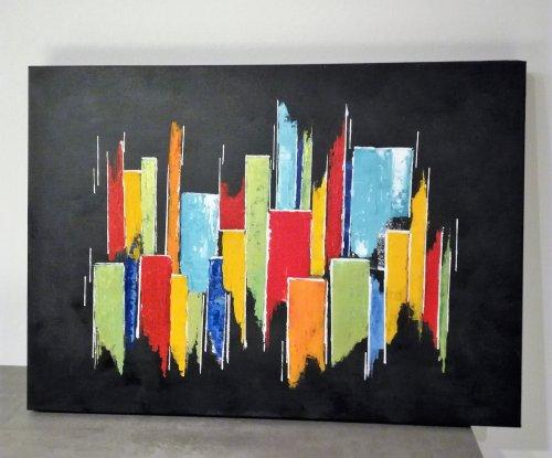 """Abstrait """"La Cité colorée"""""""
