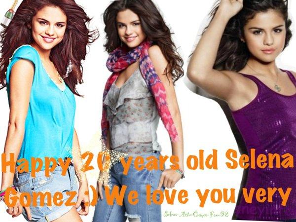 Selena Gomez a 20 ans !!!!!!!!!!!!