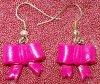 boules d'oreilles noeud rose