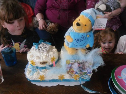 le beau gâteau pour Enzo et Théo!