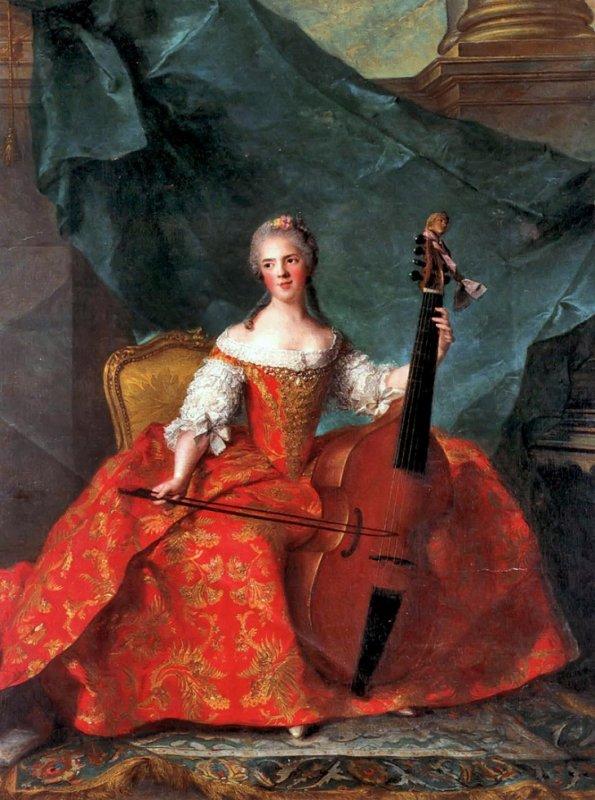 "Jean Marc Nattier "" Marie Henriette de France""."