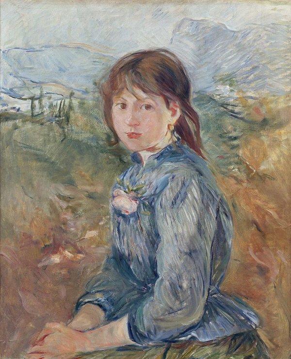 """B. Morisot: """" Une jeune fille."""""""