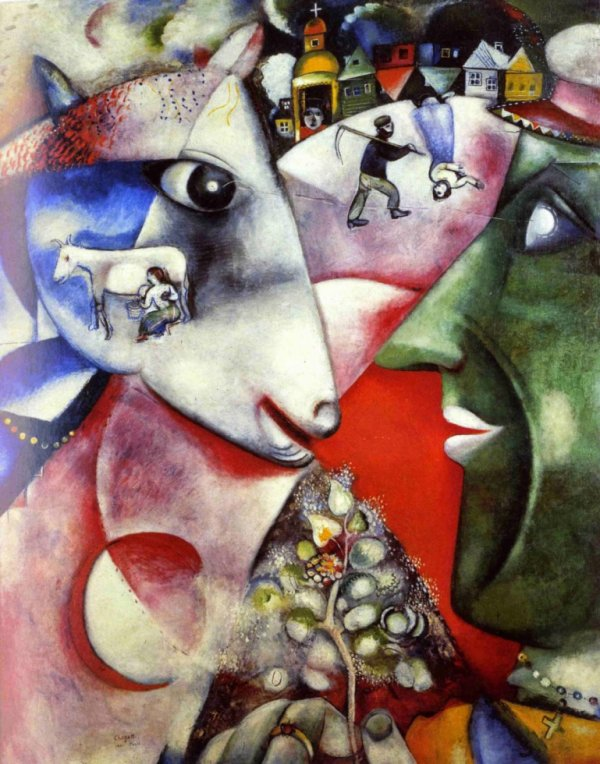 """Marc Chagall """"Moi et le village."""""""