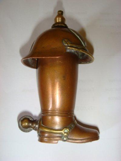 Briquet botte en cuivre et laiton