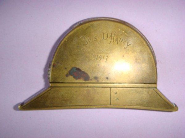 Briquet casque Adrian d'artilleur