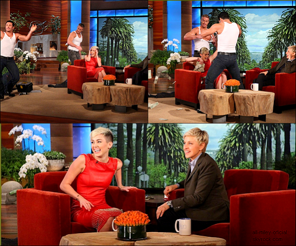 Miley ce 8 novembre 2012 chez Elen Show.