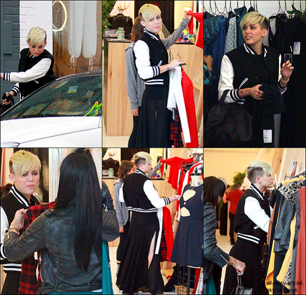 Miley faisant du shopping dans West Hollywood - 8/11/12