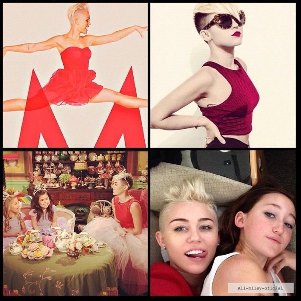 Photos personnelles de Miley.